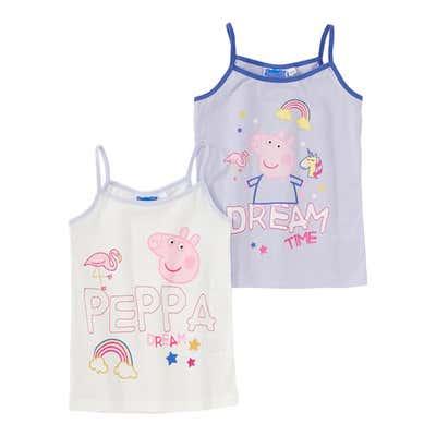Peppa Pig Mädchen-Unterhemd, 2er Pack
