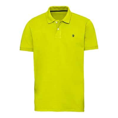 Herren-Poloshirt mit Kontrast-Stickerei