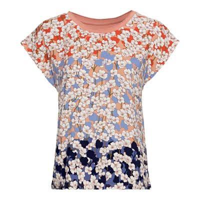 Damen-T-Shirt mit Blümchen-Design
