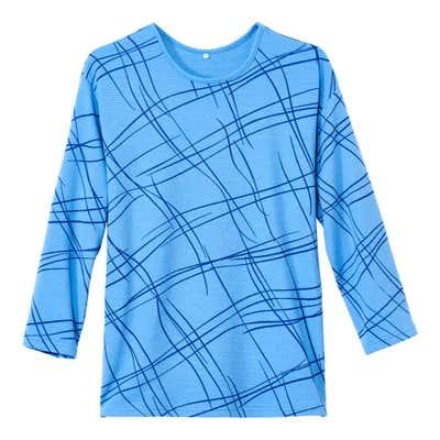 Damen-Sweatshirt mit modernem Strich-Muster