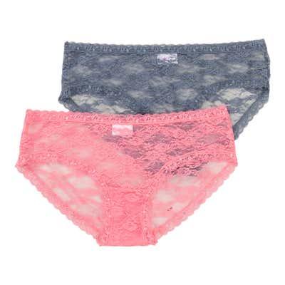 Damen-Hipster-Panty aus Vollspitze, 2er Pack