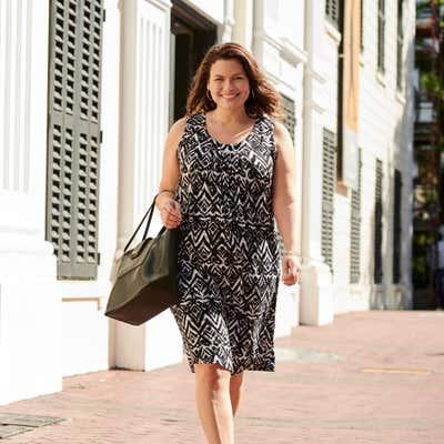 Damen-Kleid mit schickem Muster, große Größen