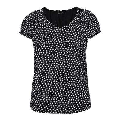 Damen-T-Shirt mit Sternchen-Muster, große Größen