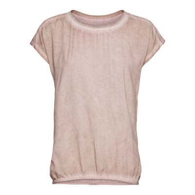 Damen-T-Shirt in Oil-Washed-Optik