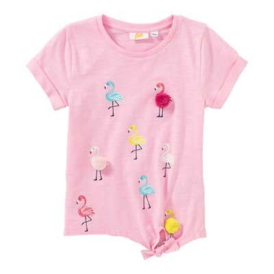 Mädchen-T-Shirt mit Flamingo-Motiven