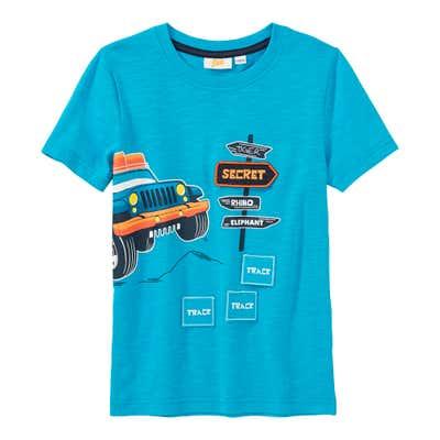 Jungen-T-Shirt mit Safari-Frontaufdruck