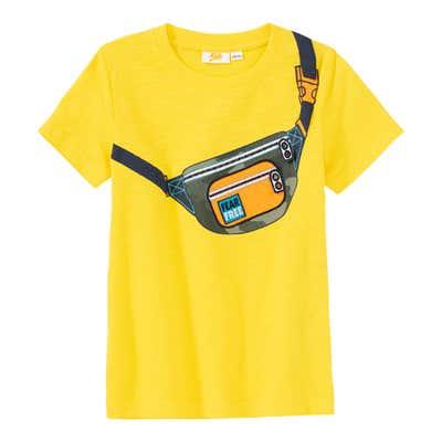 Jungen-T-Shirt mit Taschen-Aufdruck
