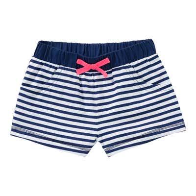 Mädchen-Shorts mit Ringelmuster