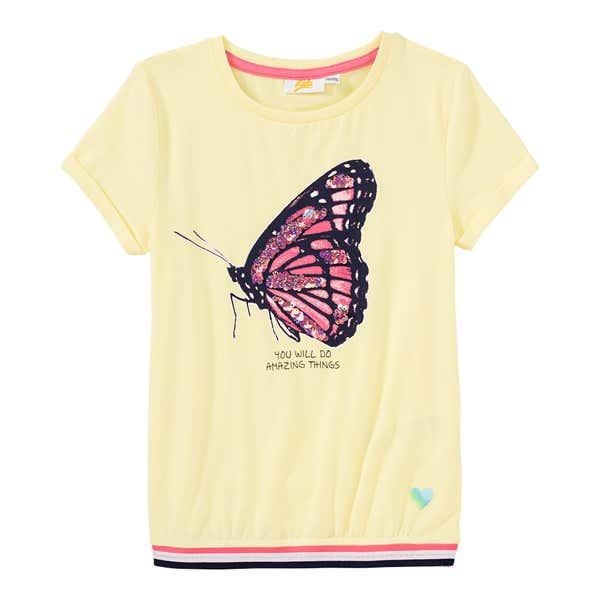 Mädchen-T-Shirt mit Pailletten-Schmetterling