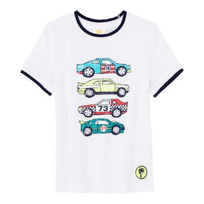Jungen-T-Shirt mit Jungen-Frontaufdruck