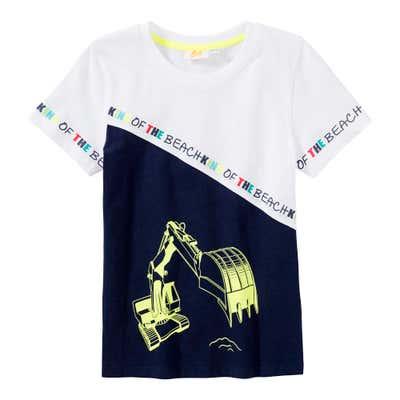 Jungen-T-Shirt mit Bagger-Aufdruck