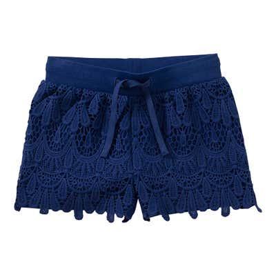 Mädchen-Shorts mit Spitzeneinsatz