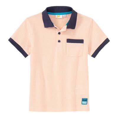 Jungen-Poloshirt mit Kontrast-Effekten