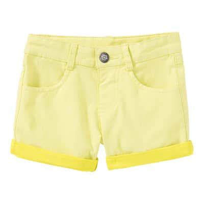 Mädchen-Twill-Shorts mit Beinumschlägen