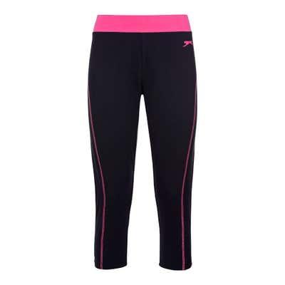 Slazenger Damen-Fitnesshose mit Kontrast-Bund