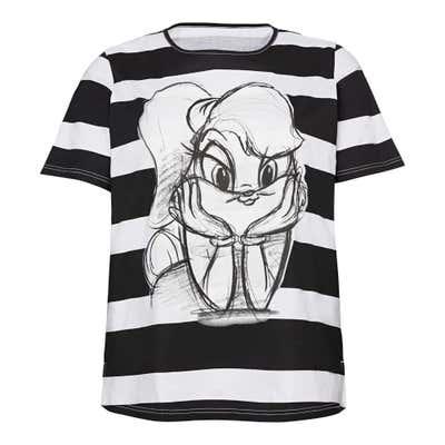 Damen-T-Shirt mit Lola-Frontaufdruck, große Größen