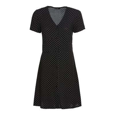 Damen-Kleid mit Zierknopfleiste