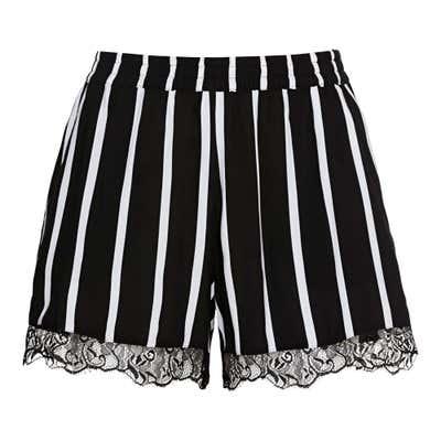 Damen-Shorts mit Längsstreifen