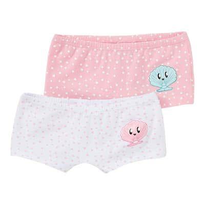Mädchen-Panty mit Muschel-Aufdruck, 2er Pack