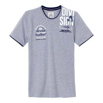 Herren-T-Shirt in beliebter Melange-Optik