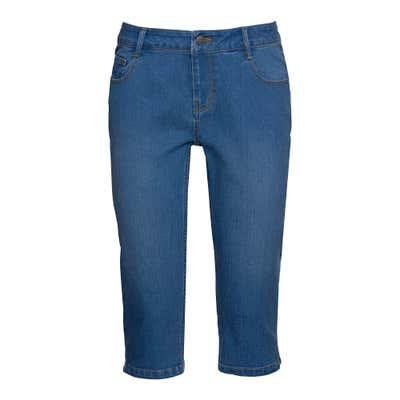 Damen-Bermudas im Jeans-Look, große Größen