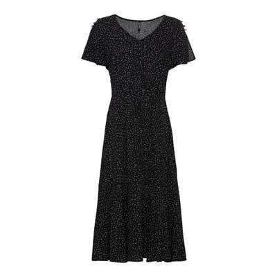 Damen-Kleid mit Zierknöpfen an den Schultern