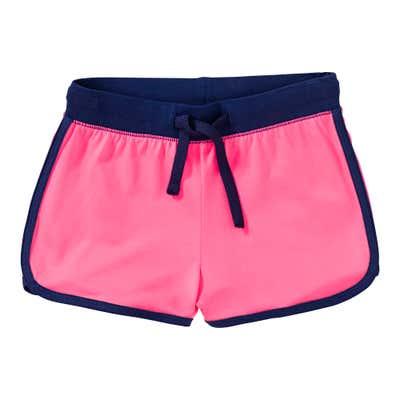 Mädchen-Shorts mit Kontrast-Einfassband