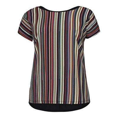 Damen-Bluse mit Streifenmuster, große Größen