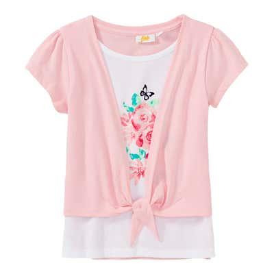 Mädchen-T-Shirt im 2-in-1-Look