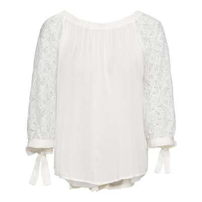 Damen-Bluse mit Spitzenärmeln