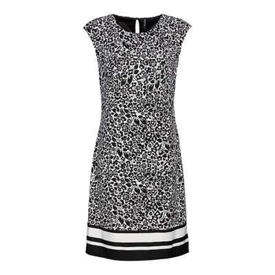 Damen-Kleid mit gestreifter Bordüre