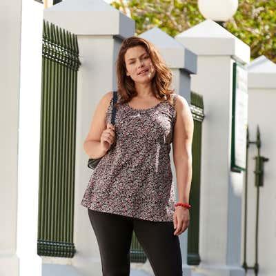 Damen-Top mit trendigem Muster, große Größen