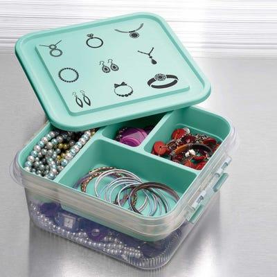 Organisier-Box in verschiedenen Ausführungen, ca. 25x26x11cm