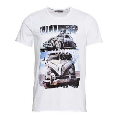 Herren-T-Shirt mit Oldtimer-Frontaufdruck