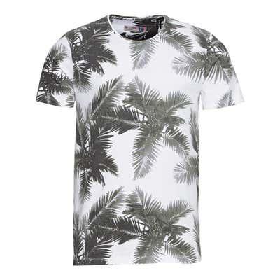 Herren-T-Shirt mit Palmen-Muster