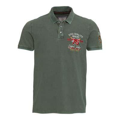 Herren-Poloshirt mit trendiger Stickerei