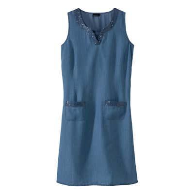 Damen-Kleid mit Pailletten-Verzierung