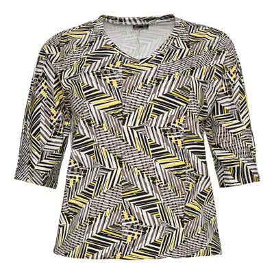 Damen-T-Shirt mit Trend-Muster, große Größen