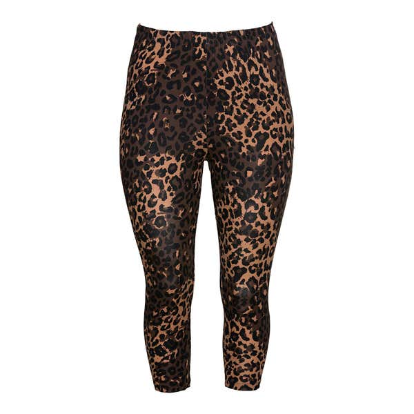 Damen-Leggings mit Leoparden-Muster, große Größen