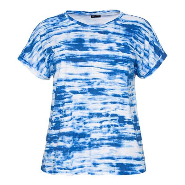 Damen-T-Shirt in Batik-Optik, große Größen