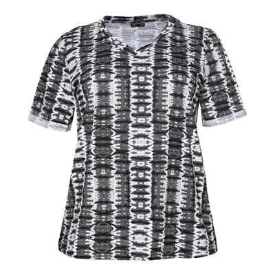 Damen-T-Shirt mit angesagtem Muster, große Größen