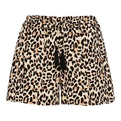 Damen-Shorts mit Leo-Muster