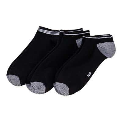 Damen-Sneaker-Socken mit Kontrast-Effekten, 3er Pack