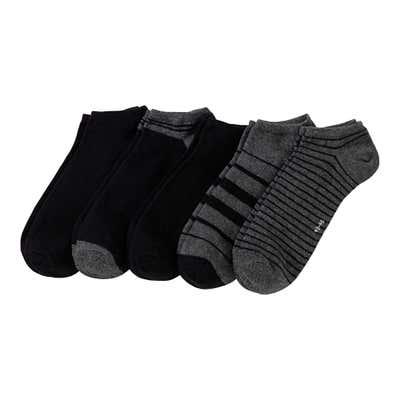 Herren-Sneaker-Socken mit trendigen Streifen, 5er Pack