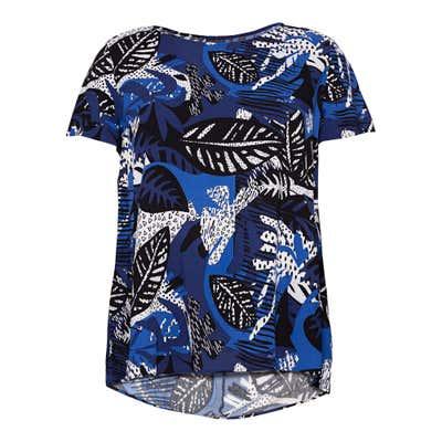 Damen-Bluse mit Blatt-Design, große Größen