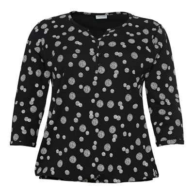 Damen-Bluse mit Kreis-Muster, große Größen
