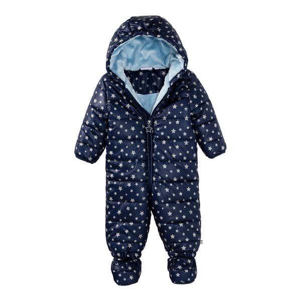 Baby-Jungen-Overall mit Schuhen und Kapuze