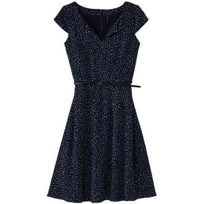 Damen-Kleid mit schickem Gürtel