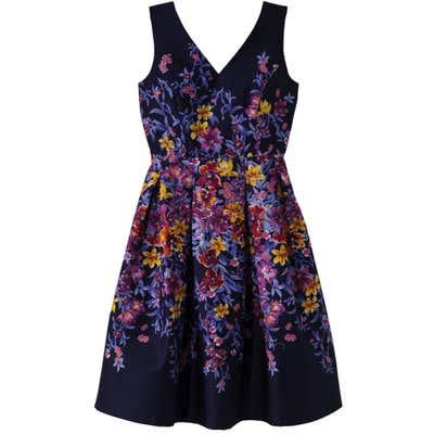 Damen-Kleid mit Spiegeldruck