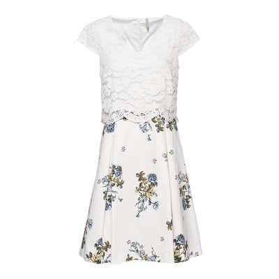 Damen-Kleid mit Spitzen-Oberteil
